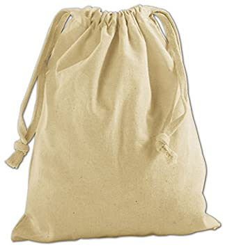 Amazon.com : EGP Tan Cotton Cloth Bags 8 x 10 : Office Products