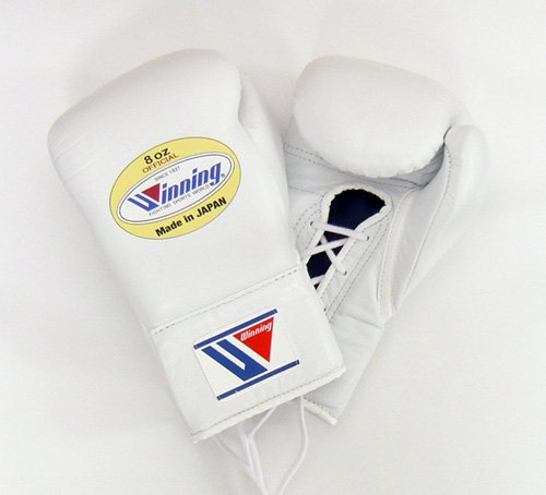 【Winning/ウイニング】 プロ試合用ボクシンググローブ8オンス ホワイト B00DGN4Y5A