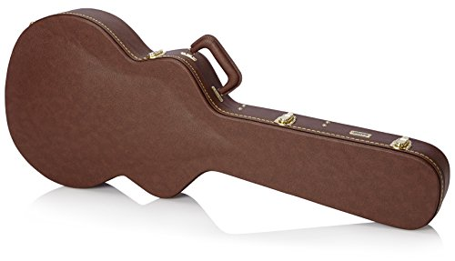 (Gator Cases Deluxe Hard-Shell Wood Case for 335 Semi-Hollow Guitars; Brown Exterior (GW-335-BROWN) )