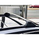 ROKIOTOEX Roof Rack Crossbars fits Toyota RAV4 2019 Side Rail Cross Bars One Pair Black Aluminum