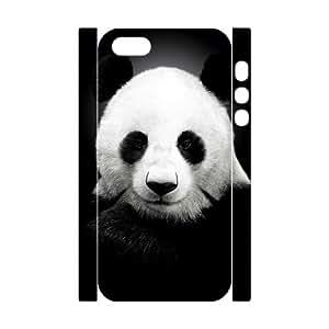 3D Bumper Plastic Customized Case Of Panda for iPhone 5,5S