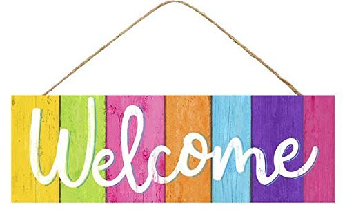 Summer Colors Wooden Welcome Sign - 15