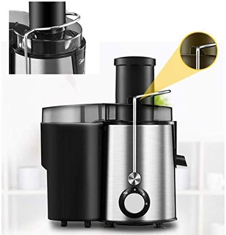 MYXMY Extractor de Jugo de Vegetales de Doble Velocidad Juicer de 400 vatios con Jarra de Jugo y contenedor de Pulpa