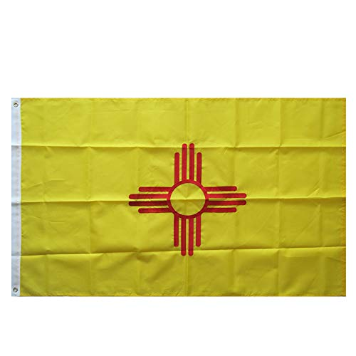 WOWMAR 3x5 Foot New Mexico Flag Made in USA- Vivid Color and