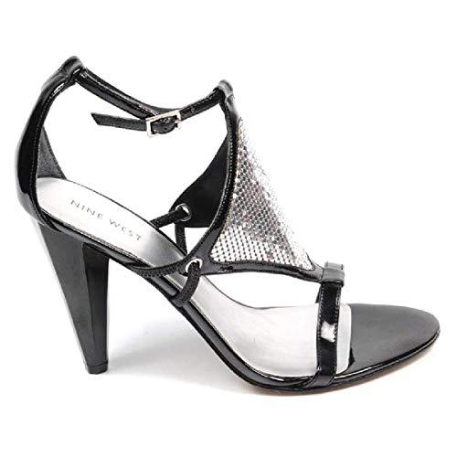 Black Silver Caviglia Cinturino Blk Nine Sandalo Donna Con West Nwdontlie POwRZx1zn