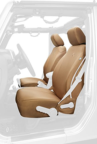 Bestop 29283-04 Tan Front Seat Cover for 2013-2018 Jeep Wrangler 2DR and Unlimited Bestop Front Seat Covers