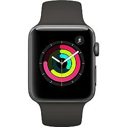 Apple Watch Series 3 (GPS) 42mm Smartwatch (Space Gray Aluminum Case, Gray Sport Band)