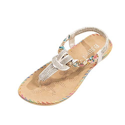 (AgrinTol Women Sandals,Fashion Crystal Sewing Roma Style Slipper Sandals Casual Shoes)