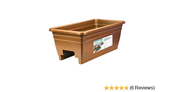 12-Inch Akro-Mils SPX24DB0E24 Deck Box Planter Terra Cotta