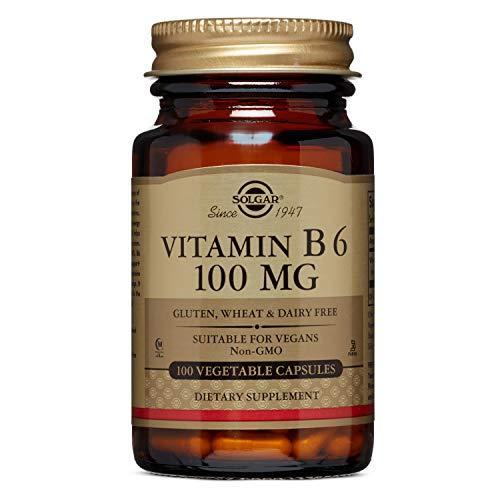 Solgar Vitamin B6 Vegetable Capsules, 100 mg, 100 Count