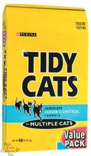 Clumping Litter Bag Cat 40lb (Tidy Cats Immediate Odor Control Formula For Multiple Cats Non-Clumping Cat Litter 40lb Bag)