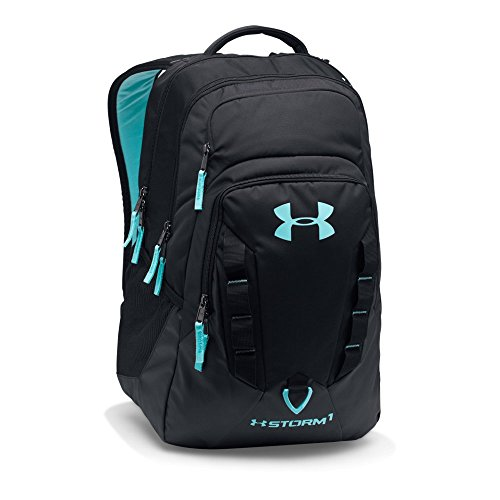Under Armour Storm Recruit Backpack,Black /Blue Infinity, One Size
