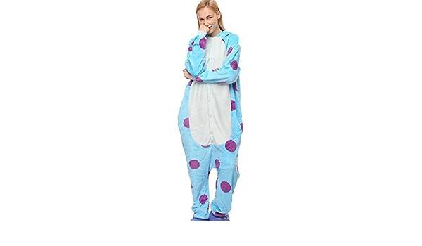idifu Mujer Hombre Unisex con capucha de Animal de peluche pijama Onesie - Azul -: Amazon.es: Ropa y accesorios