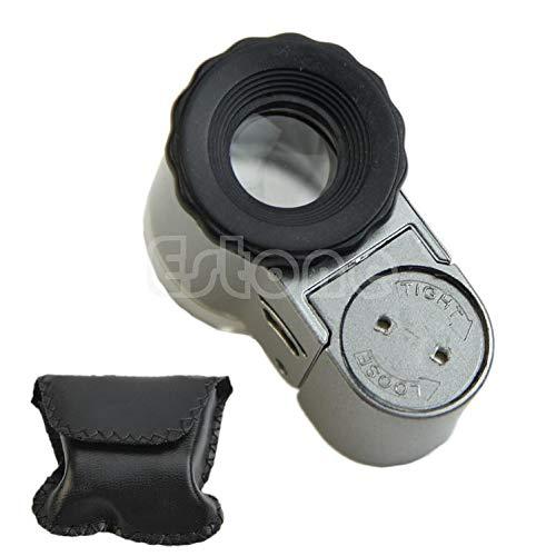 BYNNIX Mini 50X Digital LED Lights Microscope Loupe with Pocket Jewelry Magnifier New