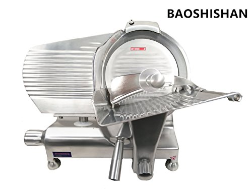 HBS-350L Commercial Semi-Auto Meat Slicer Restaurant Meat Processing Machine Electric Slicer for Frozen Meat 110V/220V (110V)