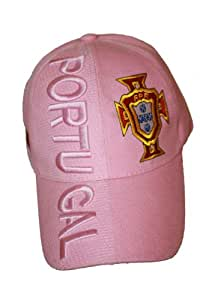 Portugal Pink FPF Logo FIFA Soccer World Cup Embossed Hat Cap .. For LADIES .. NEW