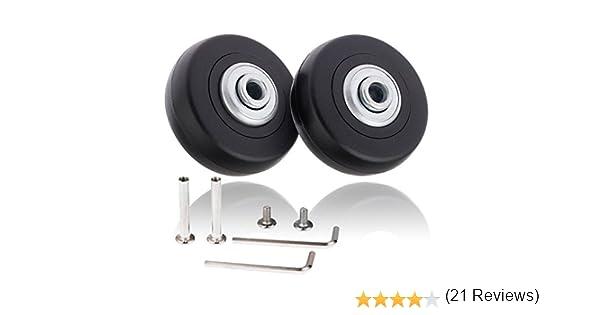 Par de ruedas de recambio de 50 x 18 mm para maleta de equipaje con juego de reparación, de Alisa