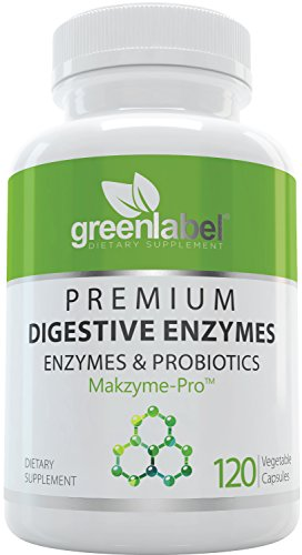 Digestive Enzymes Supplement Plus Probiotics & Prebiotics [120 Capsules], Natural Support for Better Digestion and Lactose Absorption, Helps Constipation & Gas Relief, IBS, Leaky Gut, Diarrhea, Reflux by Green Label Dietary Supplement