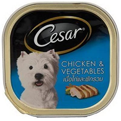 Cesar Dog Food Chicken and Vegetable in Meaty Juices for Small Dog 100 Grams