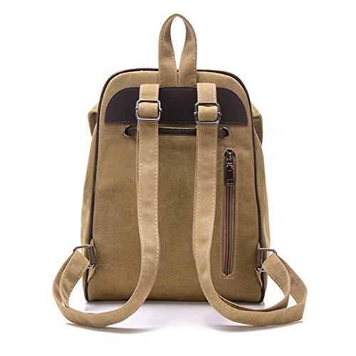 FOLLOWUS - Bolso mochila  de Lona para mujer marrón
