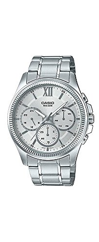 Casio MTP-E315D-7AV Men's Stainless Steel Multi-Hands Silver Dial Analog Watch by Casio
