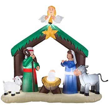CHRISTMAS INFLATABLE 7' NATIVITY YARD OUTDOOR PROP DECORATION