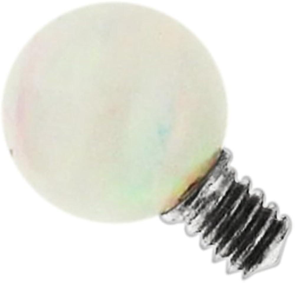 PiercingPoint 3MM Opal Ball G23 Grade Titanium Top Micro Dermal Anchor Jewelry