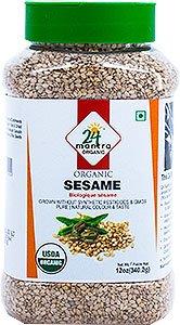 24 Mantra Organic Sesame Seeds - 12 oz jar (USDA CERTIFIED ORGANIC)