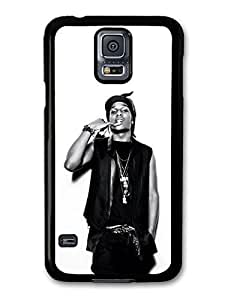 AMAF ? Accessories ASAP Rocky Black and White Portrait Showing Teeth case for Samsung Galaxy S5