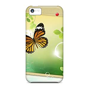 Perfect Cell-phone Hard Cover For Iphone 5c (BLj6153dZrD) Customized Realistic Butterfly Skin
