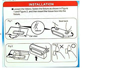 Auto Accessories Car Sun Visor Tissue Box Holder Paper Napkin Seat Back Bracket Portable Black in Car Mount Organizer