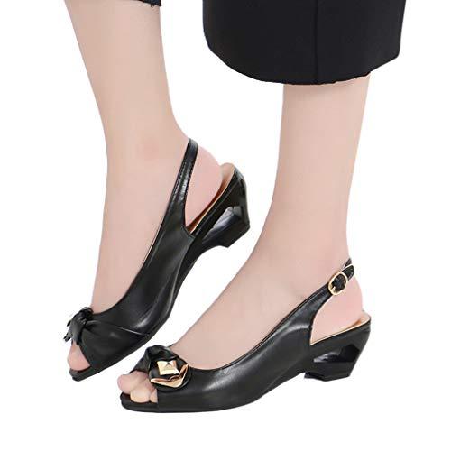 Art Sandales Talons Fille Clous Ohq Plateforme Argentées Compensees Femme Femmes Été Noir sandales À Plates t4wxzfa