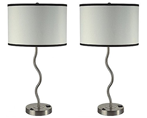 Major Q Stylish Obsession Luxury Table Lamp Set, And Equipped With Built In