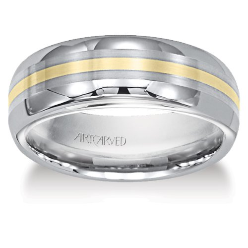 - 11-WV2082C Memento Mens Tungsten and 18K Wedding Band by ArtCarved