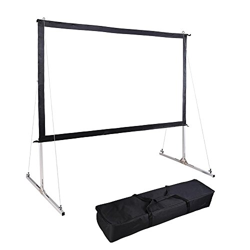 Instahibit 120'' Portable Fast Folding Projector Screen 16:9 HD with Stand and Carry Bag for Indoor Outdoor by Instahibit