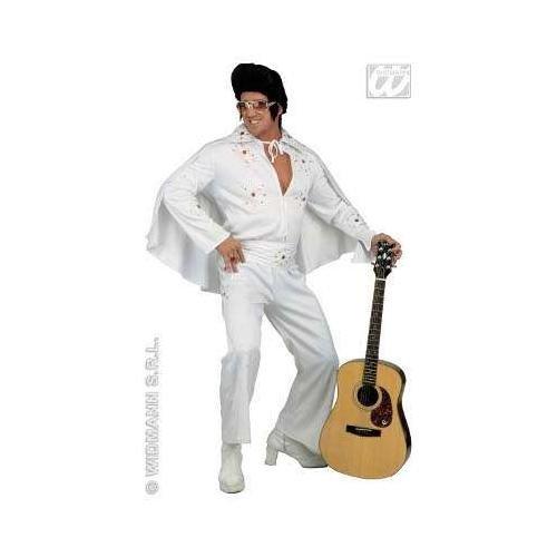 Mens King of Rock Deluxe Costume Large UK 42/44 for 70s Elvis Vegas Fancy Dress by WIDMANN (70s Vegas Costumes)