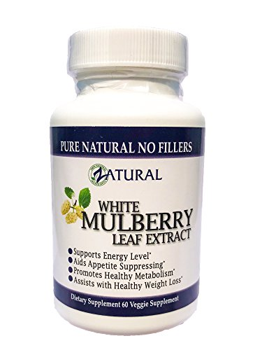 Extra Strength White Mulberry Leaf Extract 1000mg- Appetite Suppressant, Weight Loss, Lose Weight, Promotes Healthy Metabolism (1)