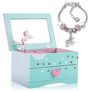 Best Epic Trends 41nDlMu3VPL._SS300_ Amitié Lane Unicorn Jewelry Box For Girls - Two Unicorn Gifts For Girls Plus Augmented Reality App (STEM Toy) - Unicorn…