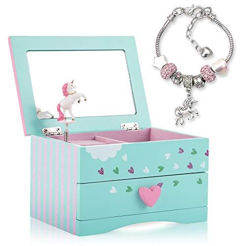 Amitié Lane Unicorn Jewellery Box For Girls PLUS Augmented Reality Experience (STEM Toy) – Unicorn Music Box With…