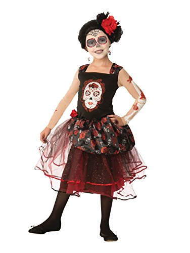 Forum Novelties Kids Day of The Dead Rosa Senorita Costume, Multicolor, Medium]()