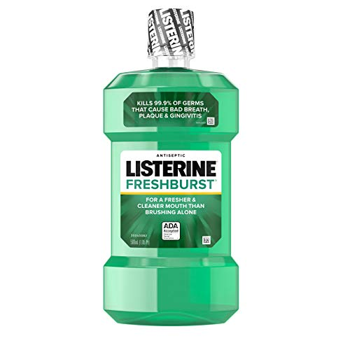 Listerine Freshburst Antiseptic Mouthwash with Germ-Killing Oral Care Formula to Fight Bad Breath, Plaque and Gingivitis…