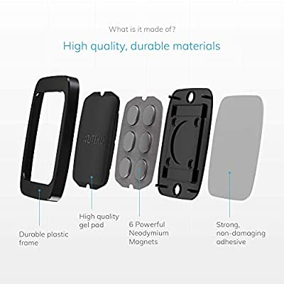 WUTEKU Flat Magnetic Cell Phone Holder Kit for Car - Works on All Vehicles, Phones and Tablets - Compatible with iPhone XR XS X 8 7 Plus and Galaxy S10 S9 S8 by Pro Driver: Automotive