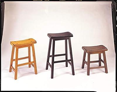 ACME 07303 Set of 2 Gaucho Stool, 18-Inch, Walnut Finish. by ACME Furniture