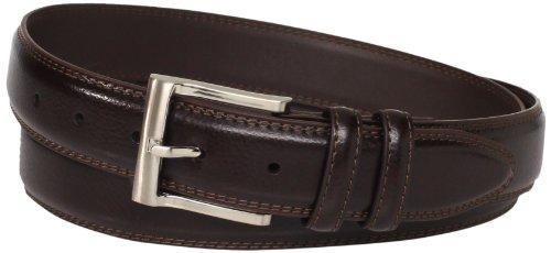 Florsheim Men's Big-tall Pebble Grain Leather Belt 32mm, Brown, 46 (Pebble Grain Brown)