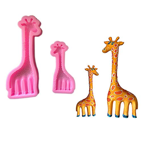Big/Small Giraffe Silicone Mold, Fondant Cake Mold, Chocolate Candy Mold,Soap Mold,Candle Molds, Crafting Jewelry Polymer Clay - Soap Giraffe