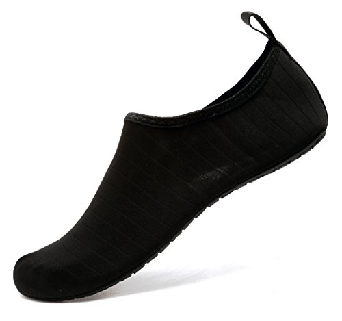 adituo Water Shoes Lightweight Aqua Socks Barefoot Anti Slip US 10.5-11 Men Black 44-45 by adituo