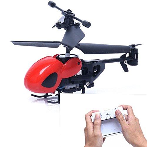 赤色 RC 5012 2CH ミニ ヘリコプター リモートコントロール 航空機 マイクロ 2チャンネル 飛行機 無毒の材料 夜間飛行可能  リモコン 超頑丈 飛行器 おもちゃ 子供用/大人用 (赤色  RC 5012 2CH ミニ ヘリコプター)