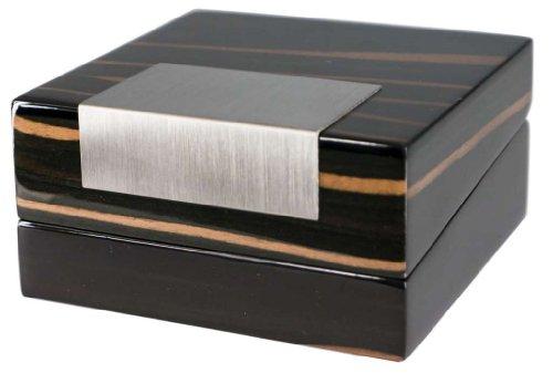 Visol Products Kadar Ebony Finish Wooden Jewelry Gift Box