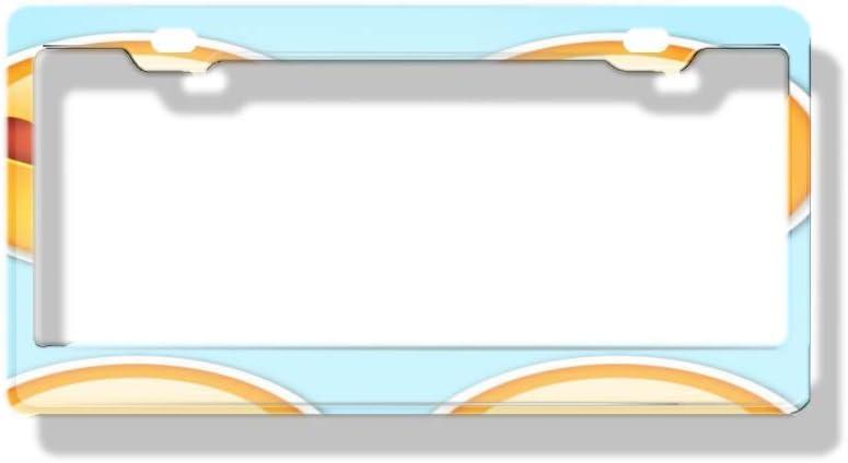 Aluminum Metal Auto Car License Plate Frame luckmx DIY Custom License Plate Frame The Ladybug
