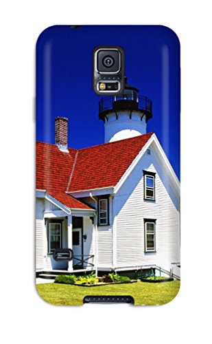 Galaxy S5 Hard Back With Bumper Silicone Gel Tpu Case Cover West Chop Lighthouse ()